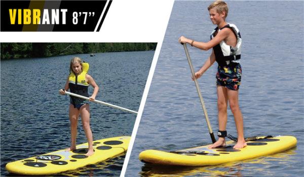aqua marina vibrant kids paddle board