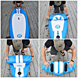 irocker sup boards review rolled up