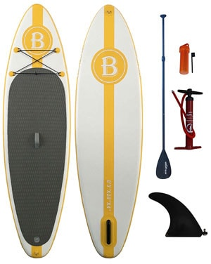 Bright Blue Inflatable Stand Up Paddle board