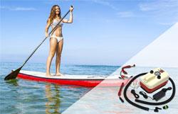 bravo 20 paddle board electric pump