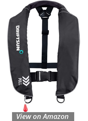 driftsun universal fit inflatable suspender pfd sup