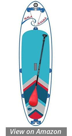 hala asana yoga fitness paddle board