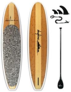 islander black camo bamboo stand up paddle board
