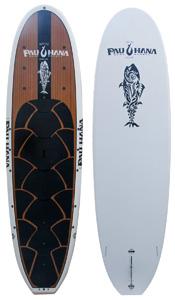 pau hana big ez angler ricochet teak veneer paddle board