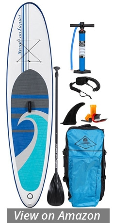 stand on liquid newport inflatable sup board