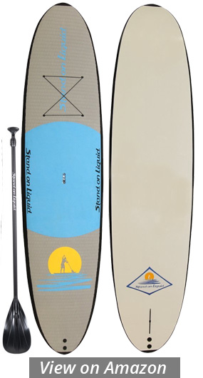 stand on liquid sunset soft top sup board